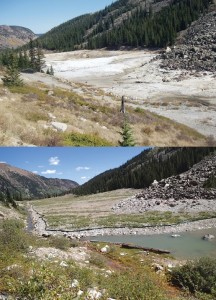London Mine before and after reclamation